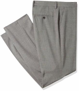 Haggar J.M. Men's Sharkskin Straight Fit Flat Front Dress Pant