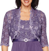 R & M Richards R&M Richards 3/4-Sleeve Lace Jacket Dress