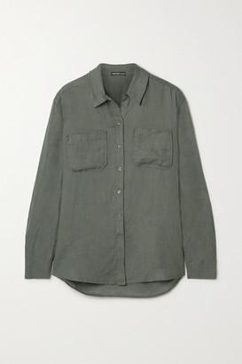 James Perse Linen Shirt - Anthracite