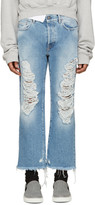 Palm Angels Blue Distressed Jeans