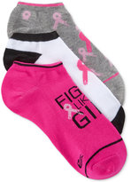 Ideology Women's 3-Pk. Pink Ribbon Socks, Only at Macy's