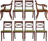 One Kings Lane Vintage Regency Saber Leg Dining Chairs, S/8