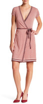 Max Studio Short Sleeve Wrap Dress