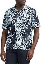 Libertine-libertine Cave Hawaiian Short Sleeve Shirt, Blue