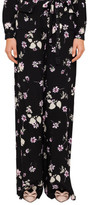 Valentino Black Floral Printed High Waist Pant With Pockets