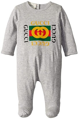 Gucci Kids One-Piece 497847X3L91 (Infant) (Grey) Kid's Jumpsuit & Rompers One Piece