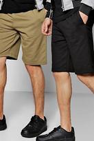 boohoo Mens 2 Pack Jersey Shorts