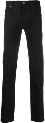 Fendi Logo Print Straight-Leg Jeans