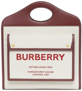 Burberry medium Pocket two-tone canvas and leather bag