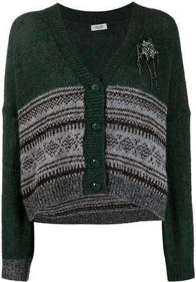 Liu Jo fair isle knitted cardigan