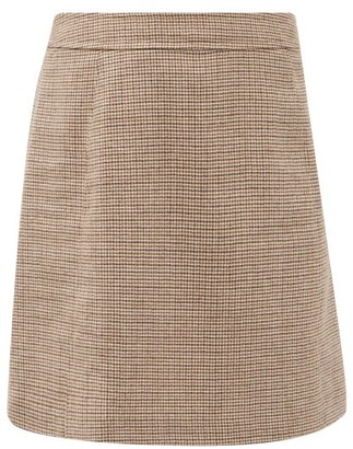 A.P.C. Sonia Shepherd-check Wool-twill Mini Skirt - Beige