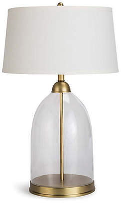 REGINA ANDREW Glass Dome Table Lamp - Clear/Brass