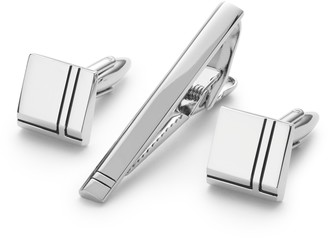 John Lewis & Partners Cufflink And Tie Slide Gift Set