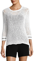 James Perse Cotton Open Knit Sweater