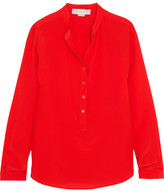 Stella McCartney Eva Silk Crepe De Chine Top - Tomato red