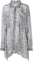 Faith Connexion leopard print asymmetric shirt - women - Silk - S