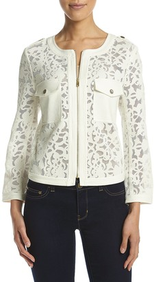 Jones New York Women's Cropped Lace Jacket