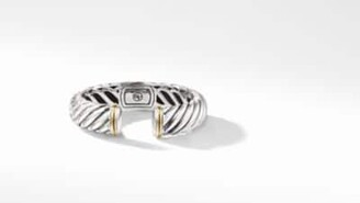 David Yurman Sculpted Cable Bracelet With An Accent Of 18K Gold, 15Mm