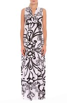 Olian Women's 'Giorgina' Print Drawstring Maternity Maxi Dress