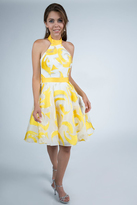 Milano Formals - E2230 High Halter Neck Printed Short Dress