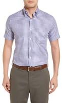 Peter Millar Men's Regular Fit Short Sleeve Hillock Plaid Sport Shirt