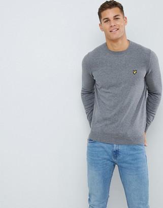 Lyle & Scott jumper in cotton in grey