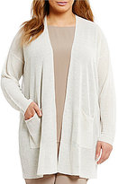 Eileen Fisher Plus Open Front Long Cardigan