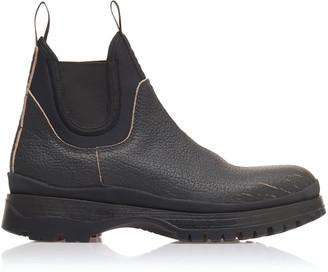 Prada Leather And Neoprene Chelsea Boots
