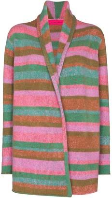 The Elder Statesman Horizontal-Stripe Cashmere Cardigan
