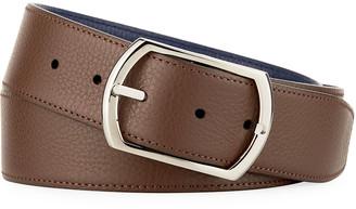 Simonnot Godard Reversible Grained Leather Belt