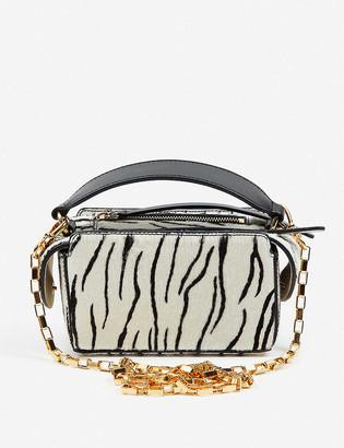 Vestiaire Collective Wandler zebra-print leather mini bag