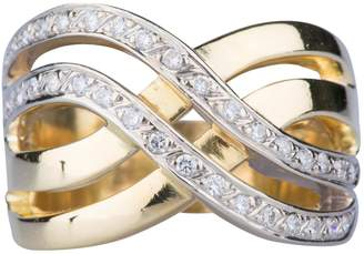 Non Signé / Unsigned Non Signe / Unsigned Bagues Cocktails White Yellow gold Rings