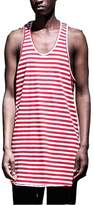 ONCEGALA Mens T Shirts Stripe Pattern Tank Tops