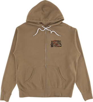 Travis Scott Astroworld Tour Zip Hooded Sweatshirt - Large