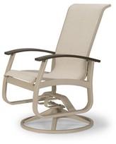 Belle Isle Swivel Patio Dining Chair (Set of 2) Telescope Casual Finish: Textured Desert, Fabric: Bailey, Arm Finish: Beachwood P40