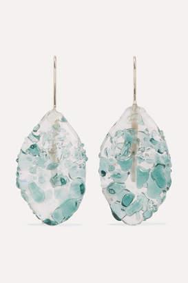 Maryam Nassir Zadeh Ellipse Glass Earrings - Silver