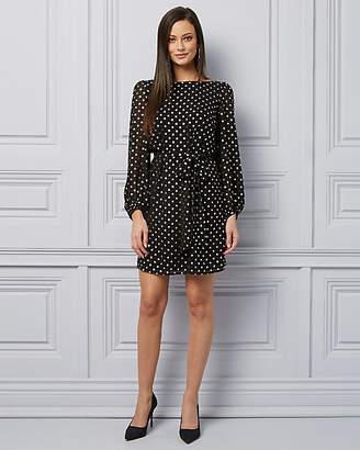 Le Château Foil Dot Print Chiffon Tunic Dress