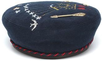 Gucci Kids Embroidered felt beret