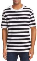 GUESS Logo Striped Crewneck Short Sleeve Tee - 100% Exclusive