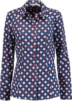 Carven Printed cotton-poplin shirt