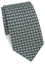 Salvatore Ferragamo Snail & Tape Silk Tie