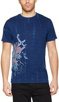 Desigual Men's TS_FLOR Dye T-Shirt,Large