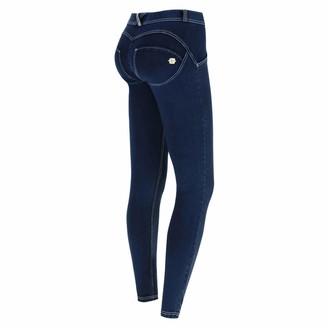 Freddy WR.UP Regular-Rise Skinny-fit Trousers in Denim-Effect Jersey - Dark Jeans-White Seams - Medium