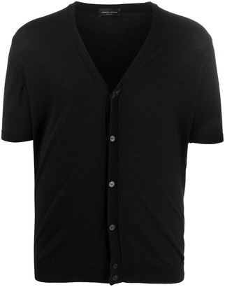 Roberto Collina Short Sleeved Cotton Cardigan