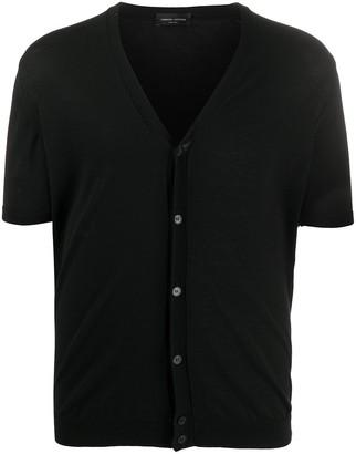 Roberto Collina Short Sleeved Cotton Cardigan