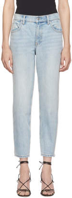 Alexander Wang Blue and Grey Ride Clash Jeans