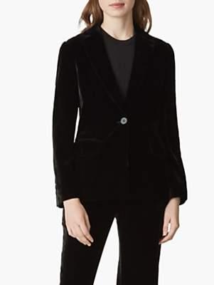 Jaeger Velvet Blazer Jacket, Black