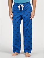 John Lewis Pointer Dog Print Lounge Pants, Blue