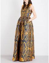Mary Katrantzou Shaw jacquard gown