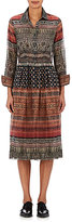 Gary Graham Women's Folkloric-Print Cotton Voile Shirtdress